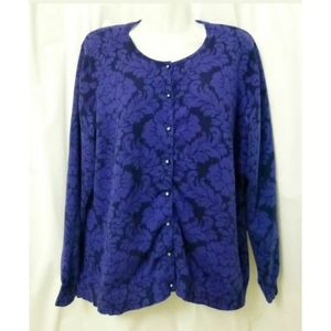 Isaac Mizrahi Women Cardigan Size L Long Sleeve